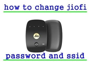change jiofi password