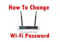 How-change-wifi-password?